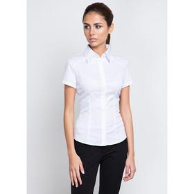 Блузка женская с длинным рукавом 905-1216L, размер 52, цвет белый