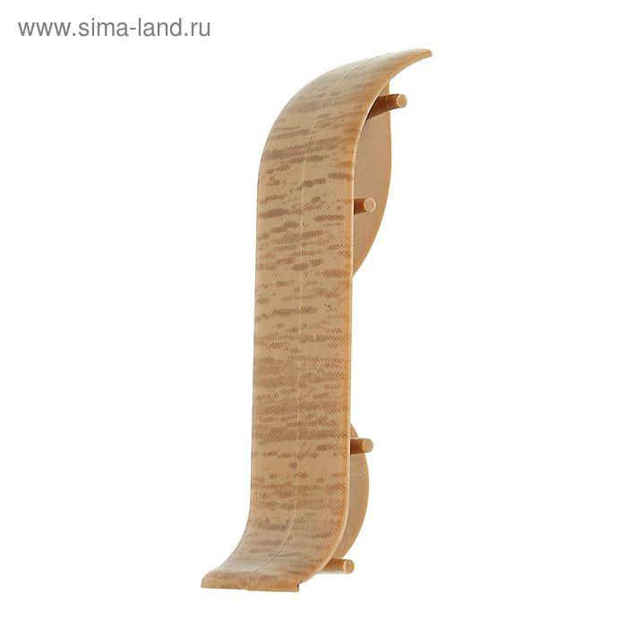 Соединитель для плинтуса (D) текстура (522 Дуб янтарный)