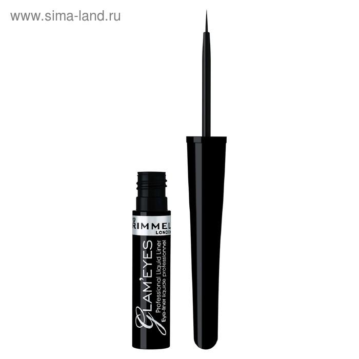 Подводка для глаз Rimmel Glam'eyes Professional Liquid Eyeliner - BLACK GLAMOUR №001