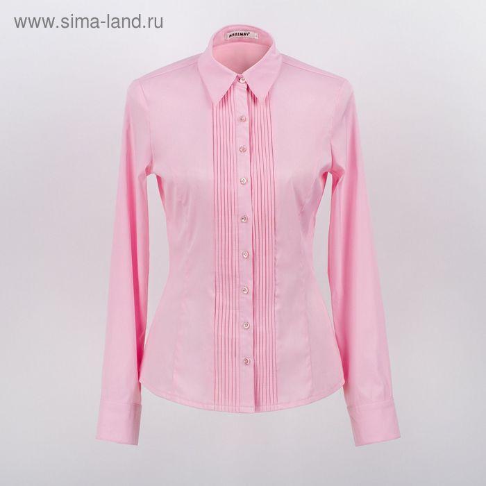 Блузка женская с длинным рукавом 905-1239, размер 40, цвет розовый