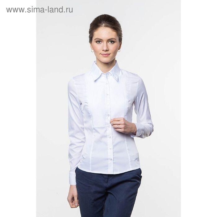 Блузка женская с длинным рукавом 905-1216, размер 42, цвет белый