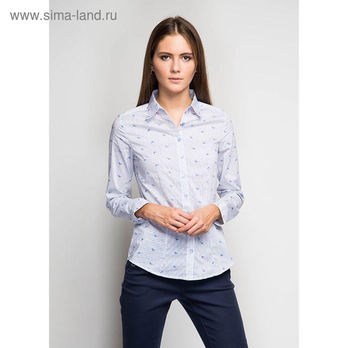 Блузка женская с длинным рукавом Q8022-1576, размер 42, цвет белый
