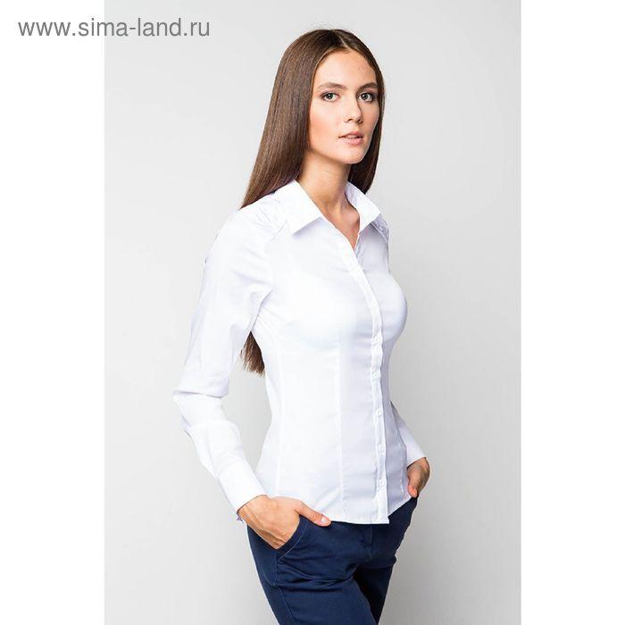 Блузка женская с длинным рукавом 905-9052, размер 46, цвет белый