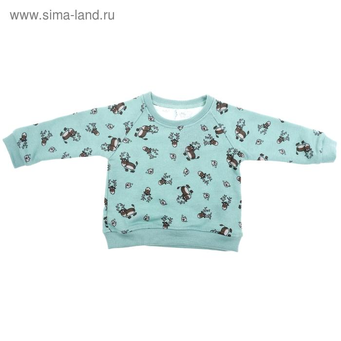Джемпер для девочки, рост 74-80 см (26), цвет зеленый 550Б-481
