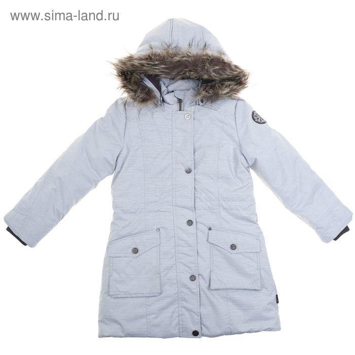 Куртка для девочки  рост 134-140 см (обхват груди 72, обхват талии 66), цвет серый