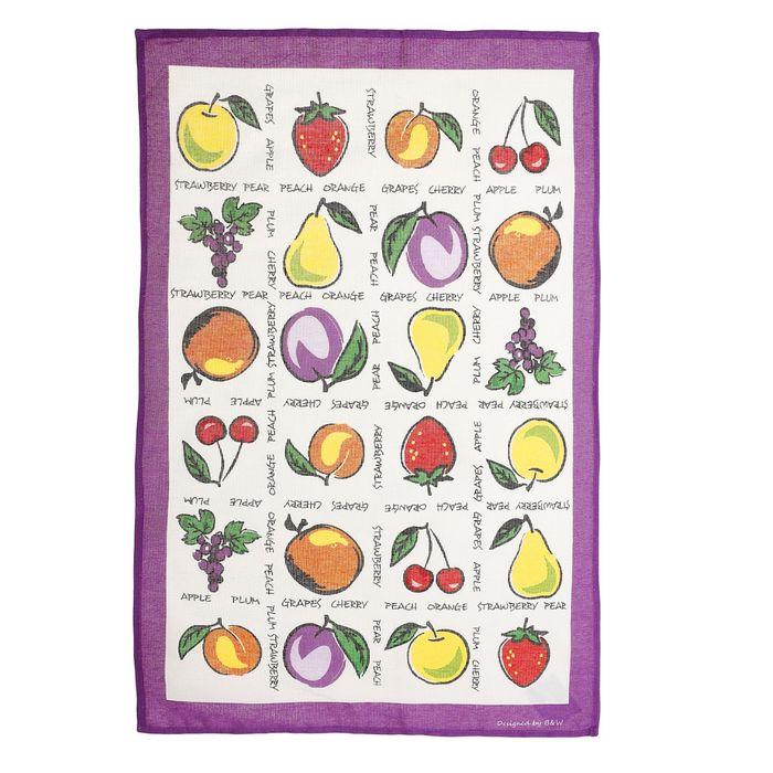"""Полотенце кухонное """"Collorista"""" Фрукты-ягоды (вид 2) 47*70±2 см, 100% хлопок, рогожка, 162 г/м2   10"""