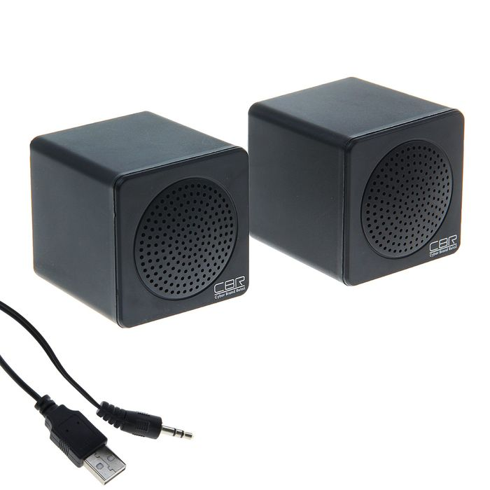 Акустическая система 2.0 CBR CMS 292, 2х2Вт, USB, черные