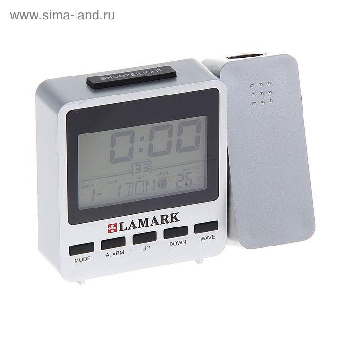 Электронный будильник Lamark LK-2100, серебристый