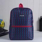 Рюкзак молодежный на молнии, 1 отделение, 1 наружный карман, розовый/голубой