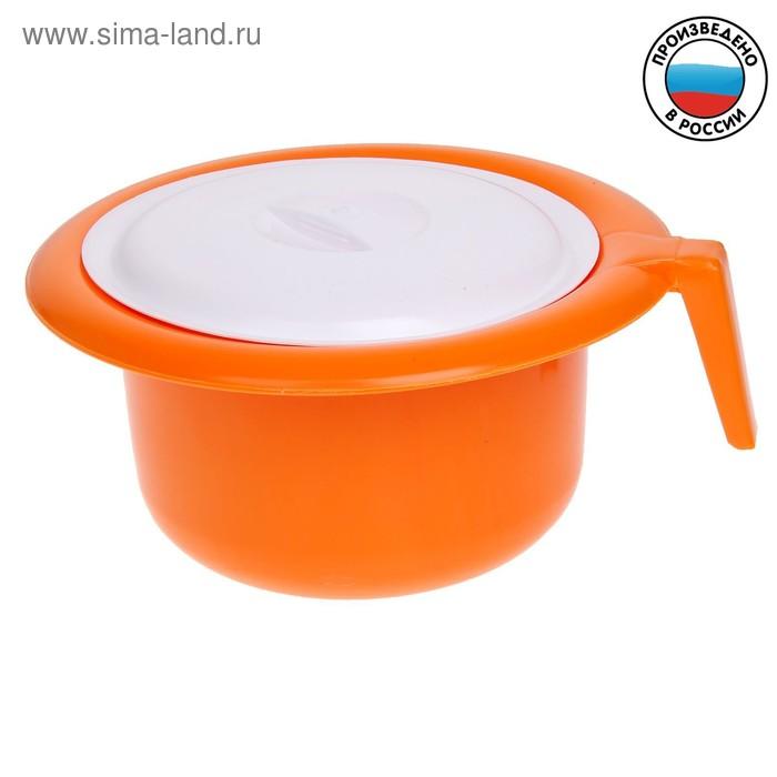 Горшок детский с крышкой, цвет оранжевый