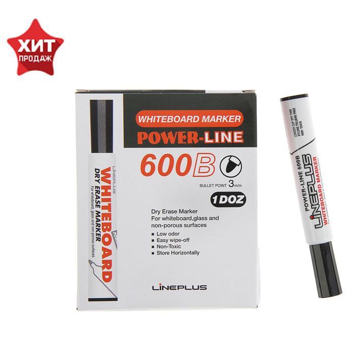 Маркер для доски 3.0 мм Line Plus 600B чёрный