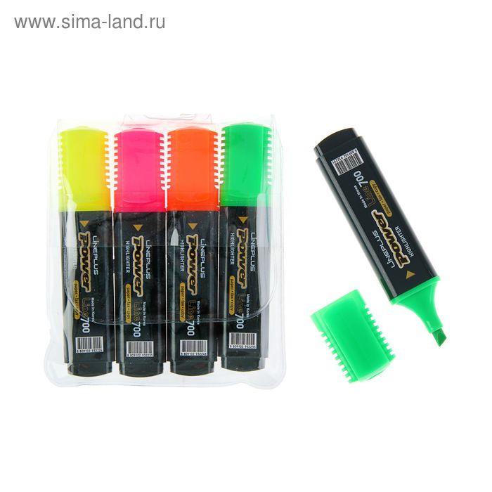 Набор маркеров текстовыделителей 4 цвета 5.0 Line Plus HI-700C 207987