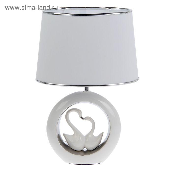 """Лампа настольная с абажуром """"2 лебедя"""""""