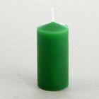 Свеча классическая 4х8,5 см, зеленая