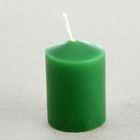 Свеча классическая 4х5 см, зеленая