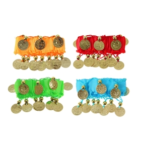 Карнавальный браслет для восточных танцев (набор 2 штуки) с монетами, цвета МИКС
