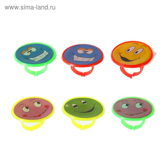 "Кольцо ""Смайл"" картинки и цвета МИКС"