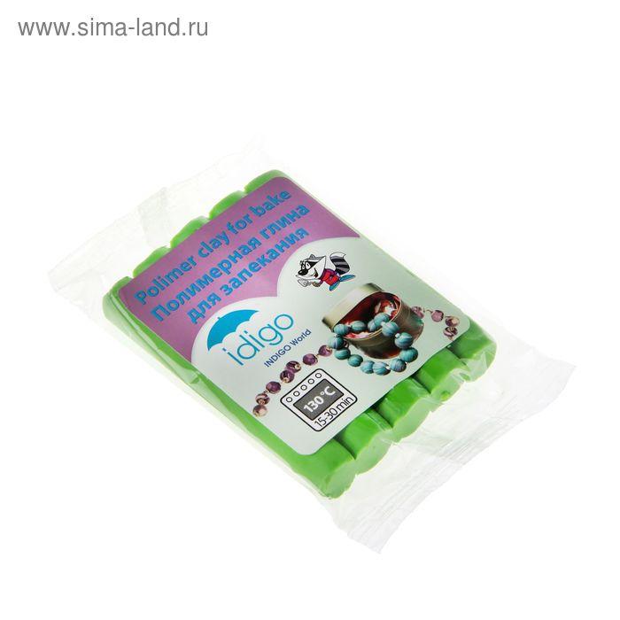 Пластика — полимерная глина 50г зеленая флюоресцентная