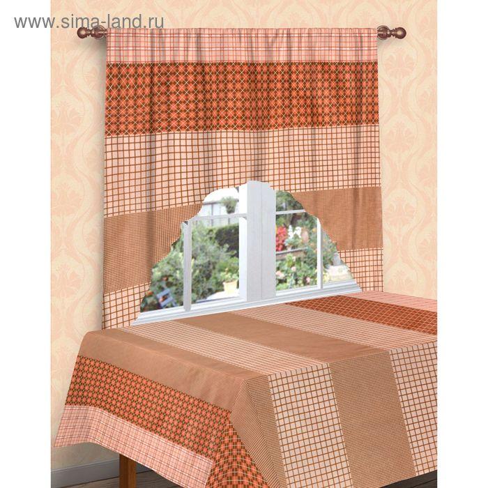 Комплект для кухни: штора-арка 180х200см, скатерть 160х180 см, рисунок 422