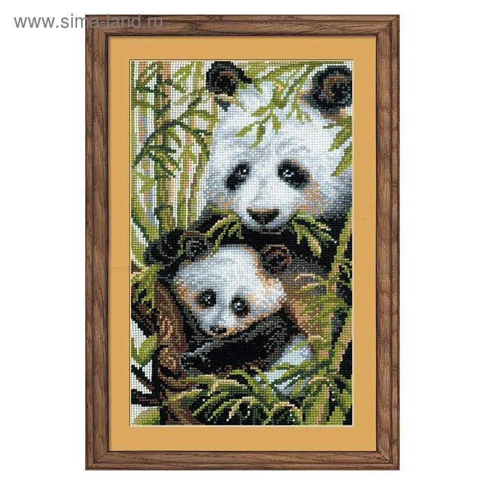 """Набор для вышивания крестиком """"Панда с детёнышем"""""""