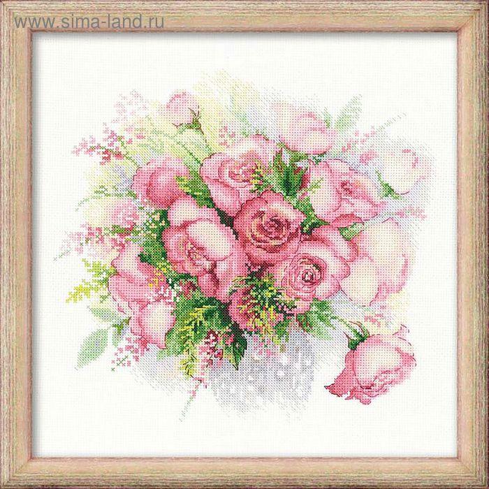 """Набор для вышивания крестиком """"Акварельные розы"""""""