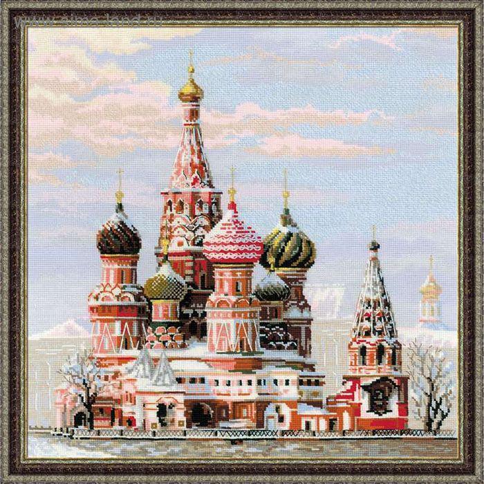 """Вышивка крестом """"Москва, Собор Василия Блаженного"""""""