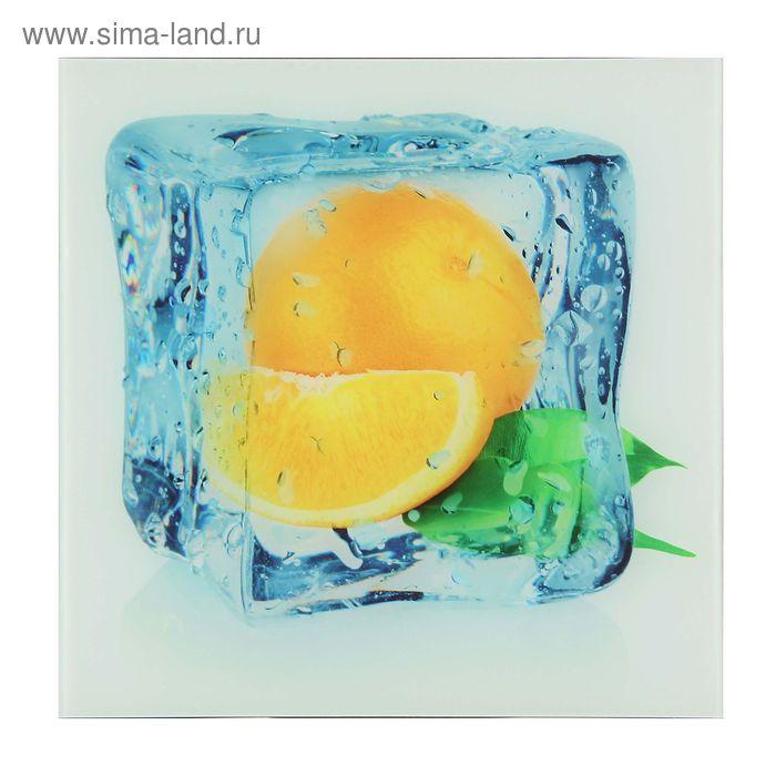 """Картина на стекле """"Ледяной апельсин"""""""