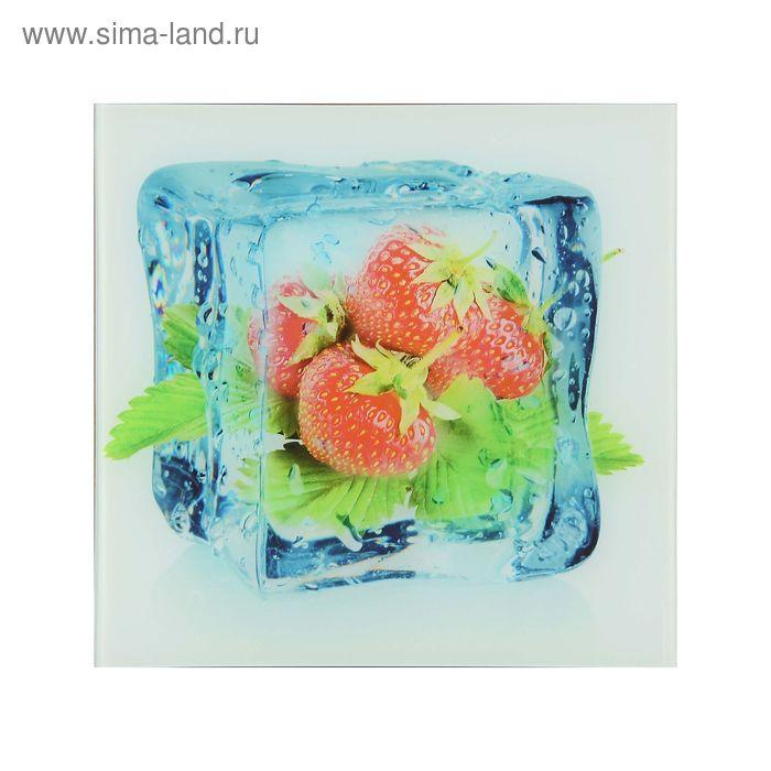 "Картина на стекле ""Ледяная клубника"""