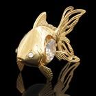 Сувенир «Золотая рыбка», 6×3×4,5 см, с кристаллами Сваровски