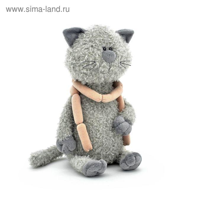 Мягкая игрушка «Кот Обормот с сосисками»