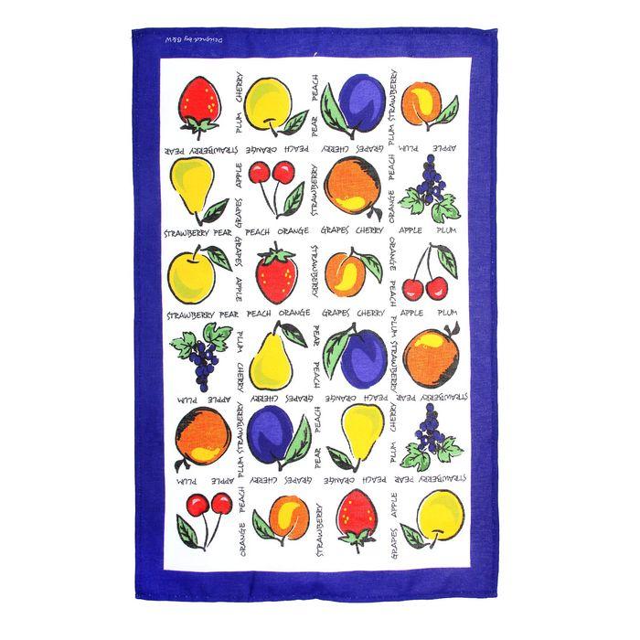 """Полотенце кухонное """"Collorista"""" Фрукты-ягоды 47*70±2 см, 100% хлопок, рогожка, 162 г/м2"""