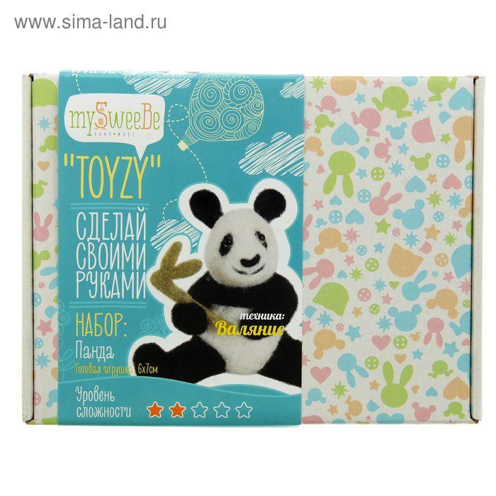 """Набор для создания игрушки  """"Панда""""  техника валяние TZ-F014"""