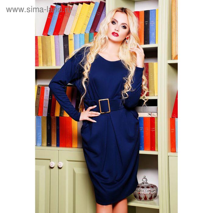 Платье женское 71174B, размер 48 (XL), цвет синий