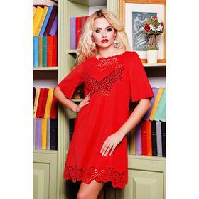 Платье женское 71172  цвет красный, размер 46 (L)