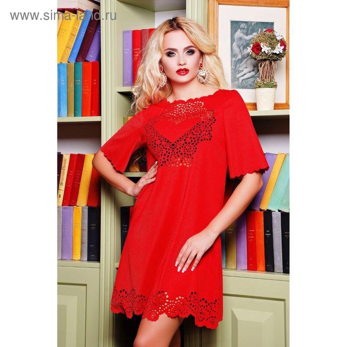Платье женское, размер 50 (XXL), цвет красный (арт. 71172B С+)
