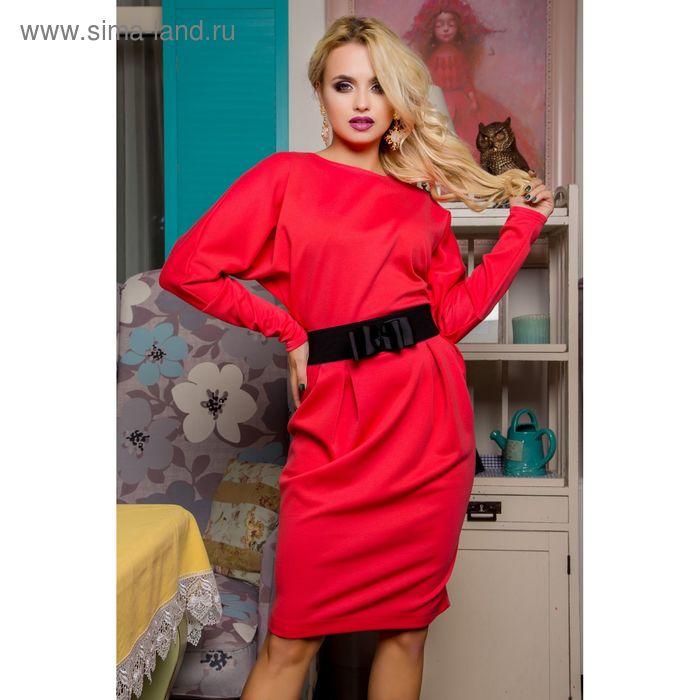 Платье женское 71176, размер 46 (L), цвет коралл