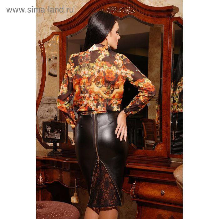 Юбка женская, размер 50 (XXL), цвет чёрный (арт. 73006B С+)