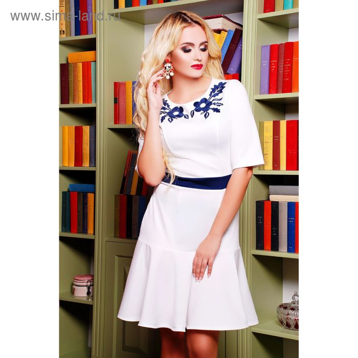 Платье женское 71173B, размер 48 (XL), цвет молоко