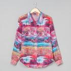 Блузка женская 72038  цвет красный пейзаж, размер 42 (S)