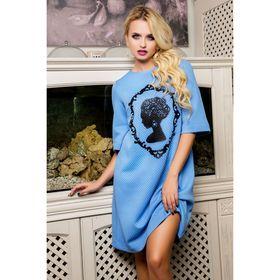 Платье женское 71178  цвет голубой, размер 42 (S)