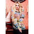 Блузка женская 72038  цвет салатовый пейзаж, размер 42 (S)