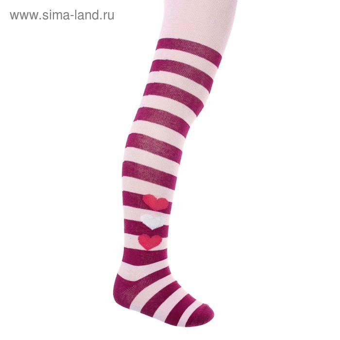 Колготки детские, рост 68-74 см, длина стопы 9 см, цвет розовый К 9037/1 АО