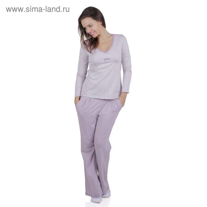 Комплект женский (джемпер+брюки) E2053 вискоза цвет сиреневый, р-р 44