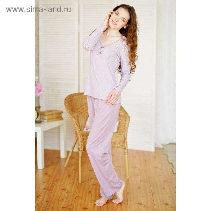 Комплект женский (джемпер+брюки) E2053 сиреневый, р-р 50
