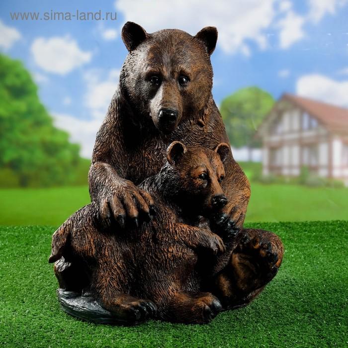 """Садовая фигура """"Медведица с медвежонком"""""""