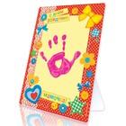 """Отпечаток детских ручек и ножек """"С Днём Рождения, мамочка"""" + краска 6 мл + подставка + клейкая лента"""