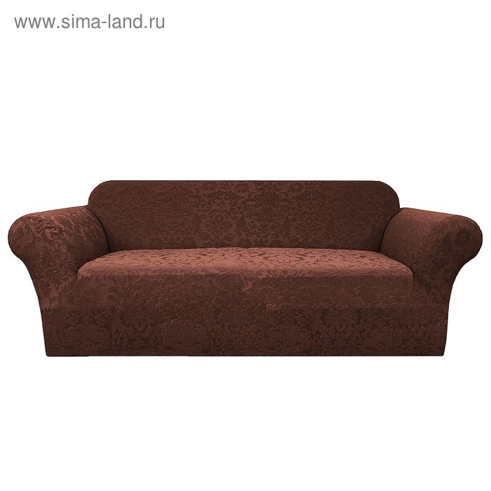"""Чехол """"Челтон"""" на 2-х местный диван, ширина спинки до 185 см, высота до 95 см, цвет шоколад"""