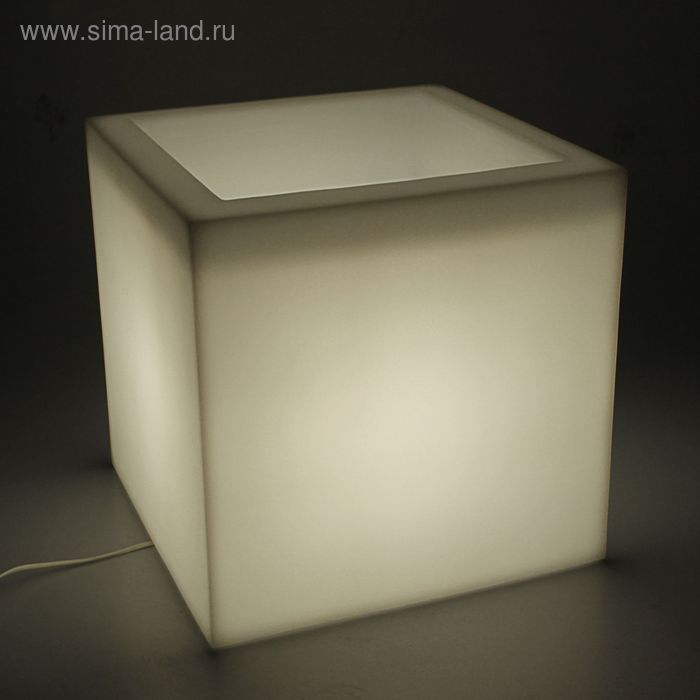 """Световое кашпо """"Куб"""" мини 40 см, 12 цветов"""