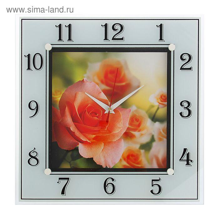 "Часы настольные квадратные ""Розы"", 31х31 см"