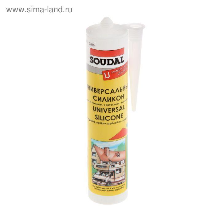 Герметик Soudal, силиконовый, универсальный, бесцветный, 280 мл